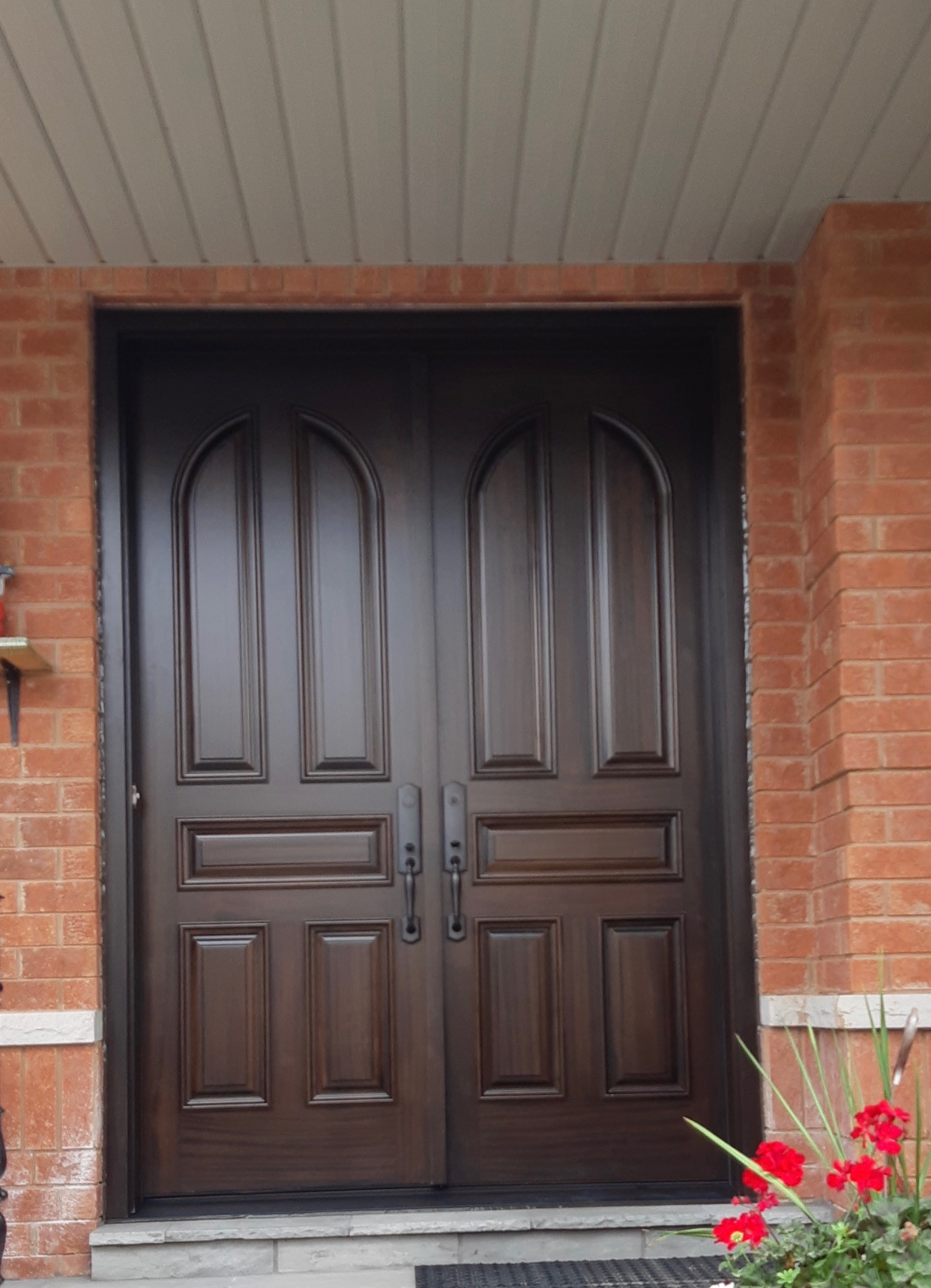 Traditional Solid Wood Double Front Entry Door