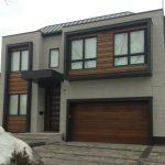Modern Contemporary Fiberglass Garage Doors-Modern Garage Door in Newmaretl, Ontario by www.modern-doors.ca