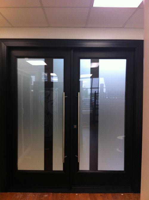 Modern Contemporary Front Entry Double Doors, Fiberglass ...