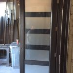 Modern Contemporary Front Entry Door During Manufacturing by modern-doors.ca will install in Woodbridge Ontario -Picture#MED115