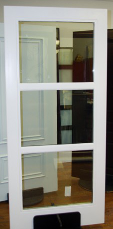 Modern Contemporary Front Entry Door-Fiber Glass Door with Glass Designs - White Color by modern-doors