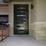 Modern Contemporary Front Entry Door with Horizontal Lites & Multi Point Locks installed in Vaughan, Ontario by modern-doors.ca-Picture#MED118