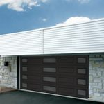 Modern Contemporary Garage Doors-Complete Harmony Window Layout Modern Garage Door in Oakville, Ontario by www.modern-doors