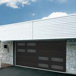 Modern Contemporary Garage Doors-Double Offset Window Layout Modern Garage Door in Oaville, Ontario by www.modern-doors
