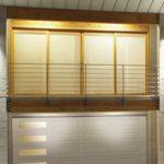 Modern Contemporary Garage Doors-Left Harmony Window Layout Modern Garage Door in Maple, Ontario by www.modern-doors.ca