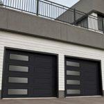 Modern Contemporary Garage Doors-Left-side Harmony Window Layout Modern Garage Doors in Richmond Hill, Ontario by www.modern-doors.ca