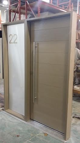 Fiberglass Door Modern Rustic Door Beige Color With