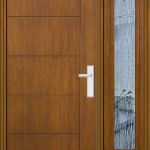 Richerson Mastergrain Fiberglass Door with Side Lite Contemporary Collection
