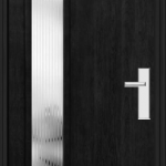 Richerson Mastergrain Fiberglass Entry Door with Side Lite Contemporary Collection