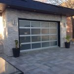 Modern Garage Door-Aluminum Garage door with Frosted lites installed by Modern Doors