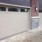 Modern Garage Doors with Clear Glass Door Lites Installed in Richmond Hill