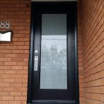 Modern Single Door with Frosted Glass and Multi Point Locks