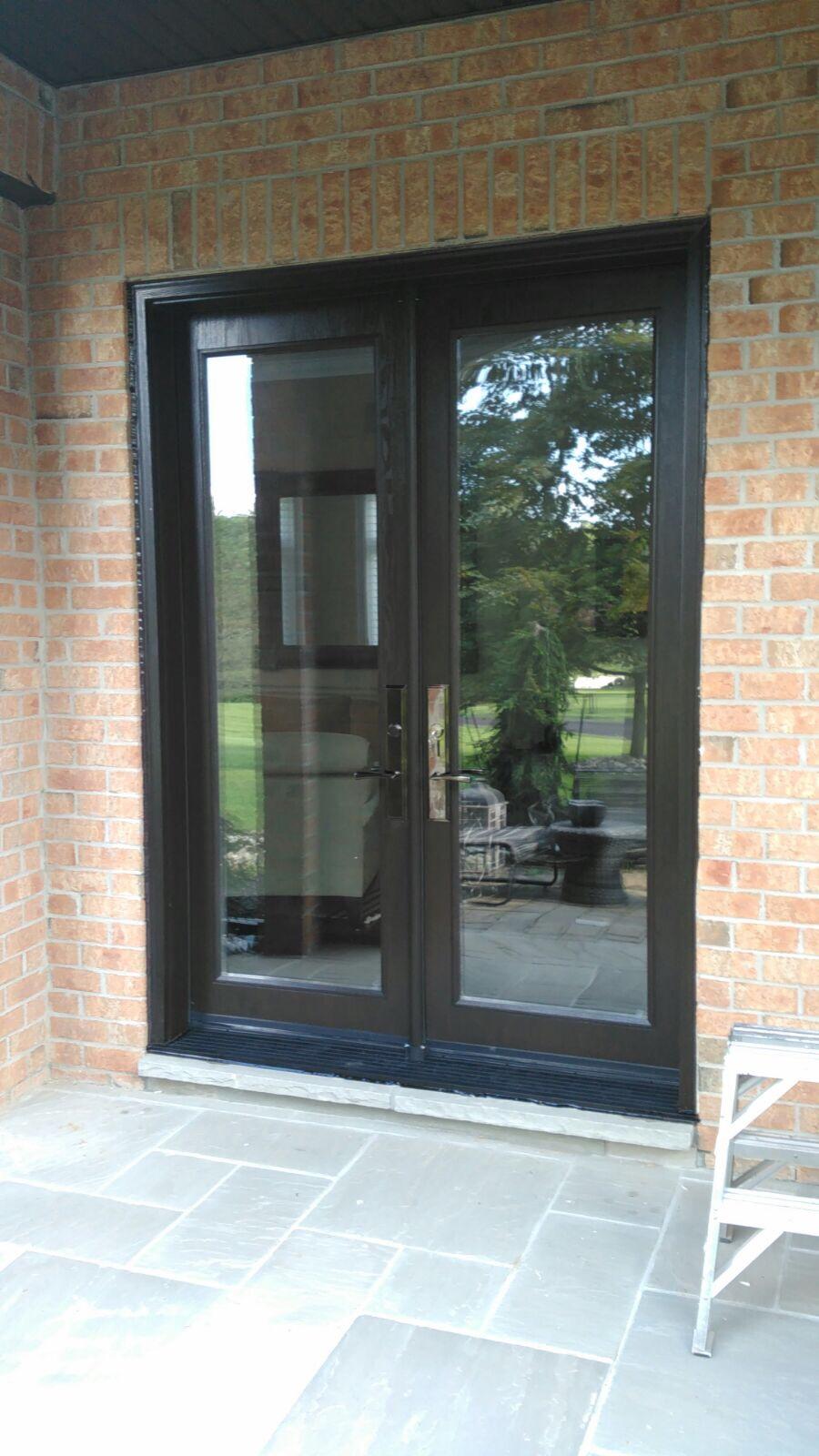Modern Exterior Doors | Clear Glass