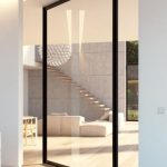 Framed Glass Pivot Interior Door