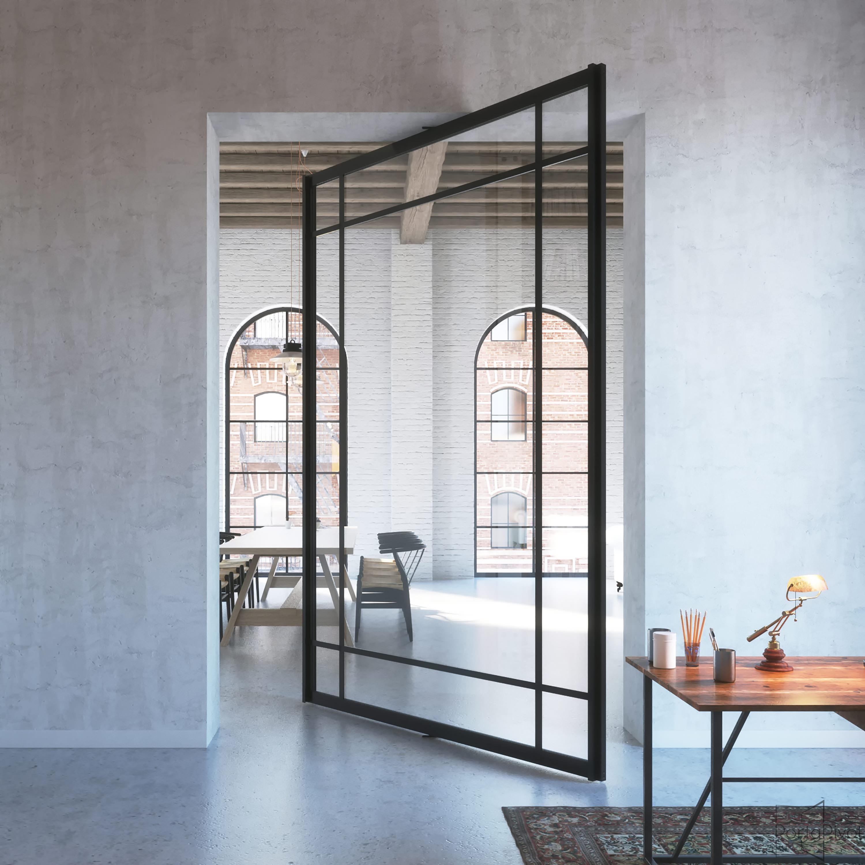 Framed Glass | Interior Pivot Door