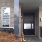 Modern Exterior Stainless Steel Door | Vaughan