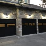 Modern Black Exterior Glass Garage Door