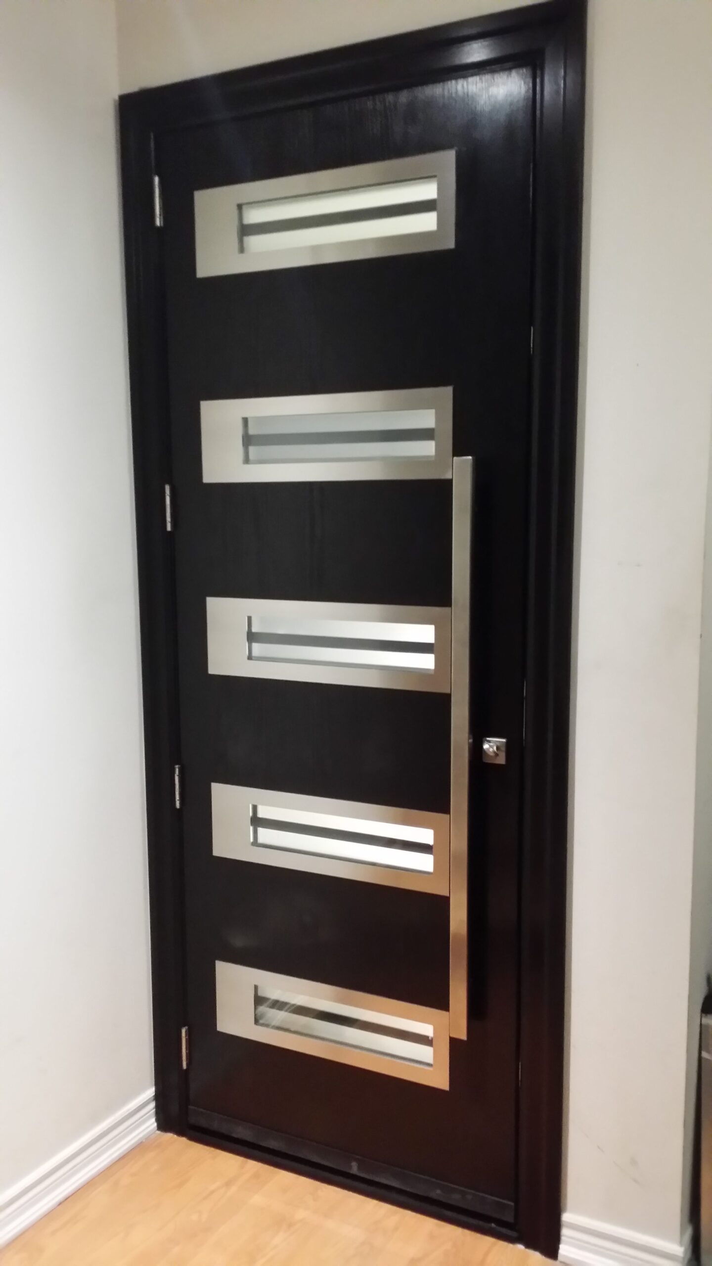 Modern Exterior Glass Stainless Steel Door