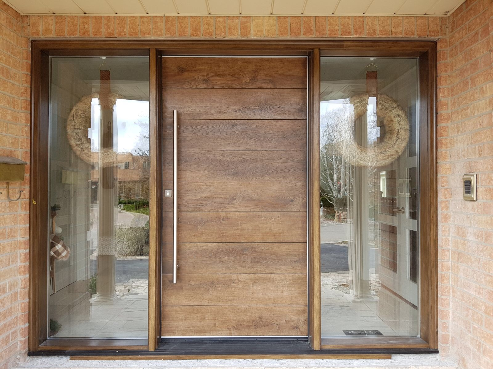 Modern Exterior Entrance Fibreglass Door
