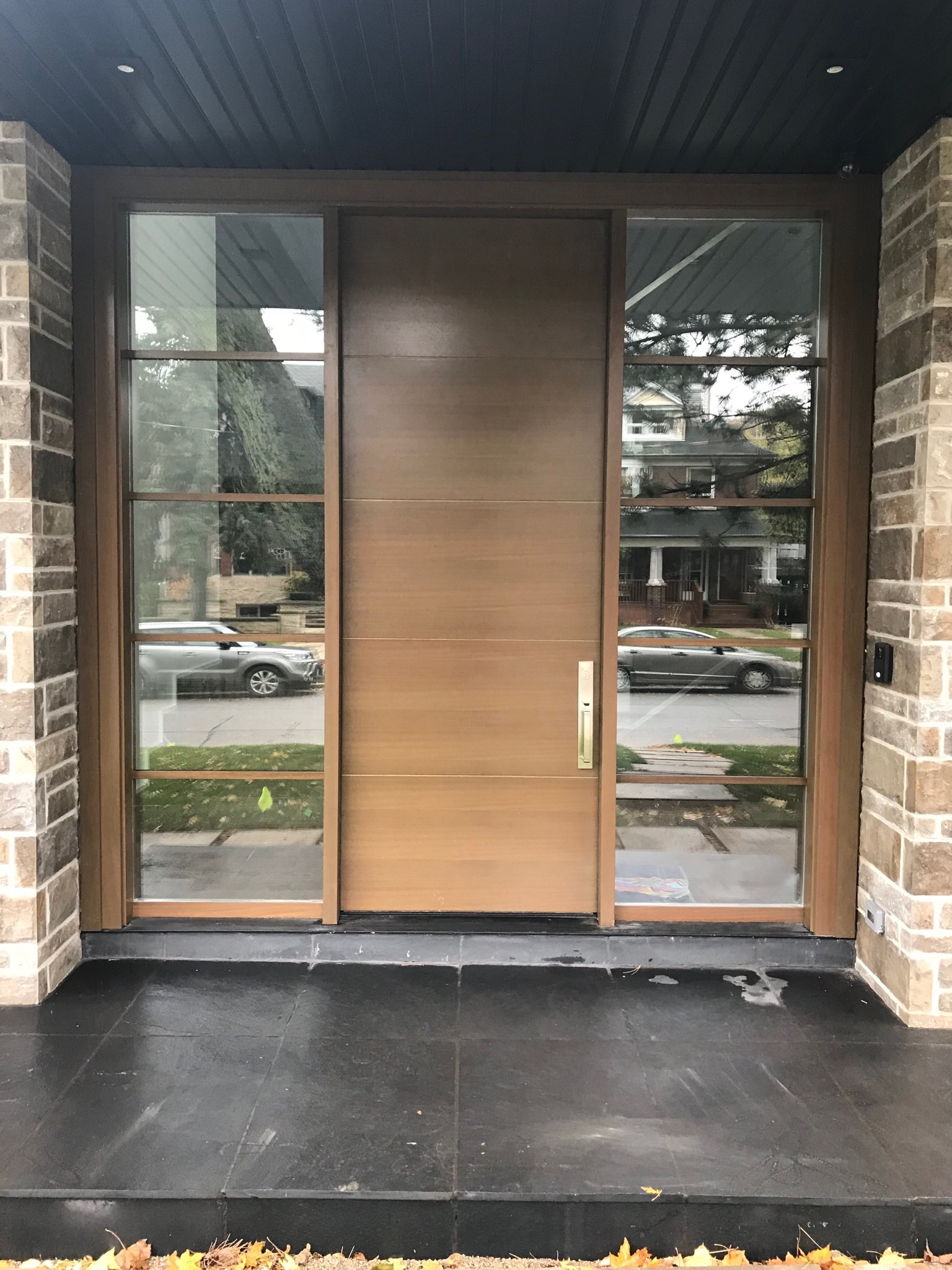 Modern Exterior Single Door Double Side Light Modern Doors
