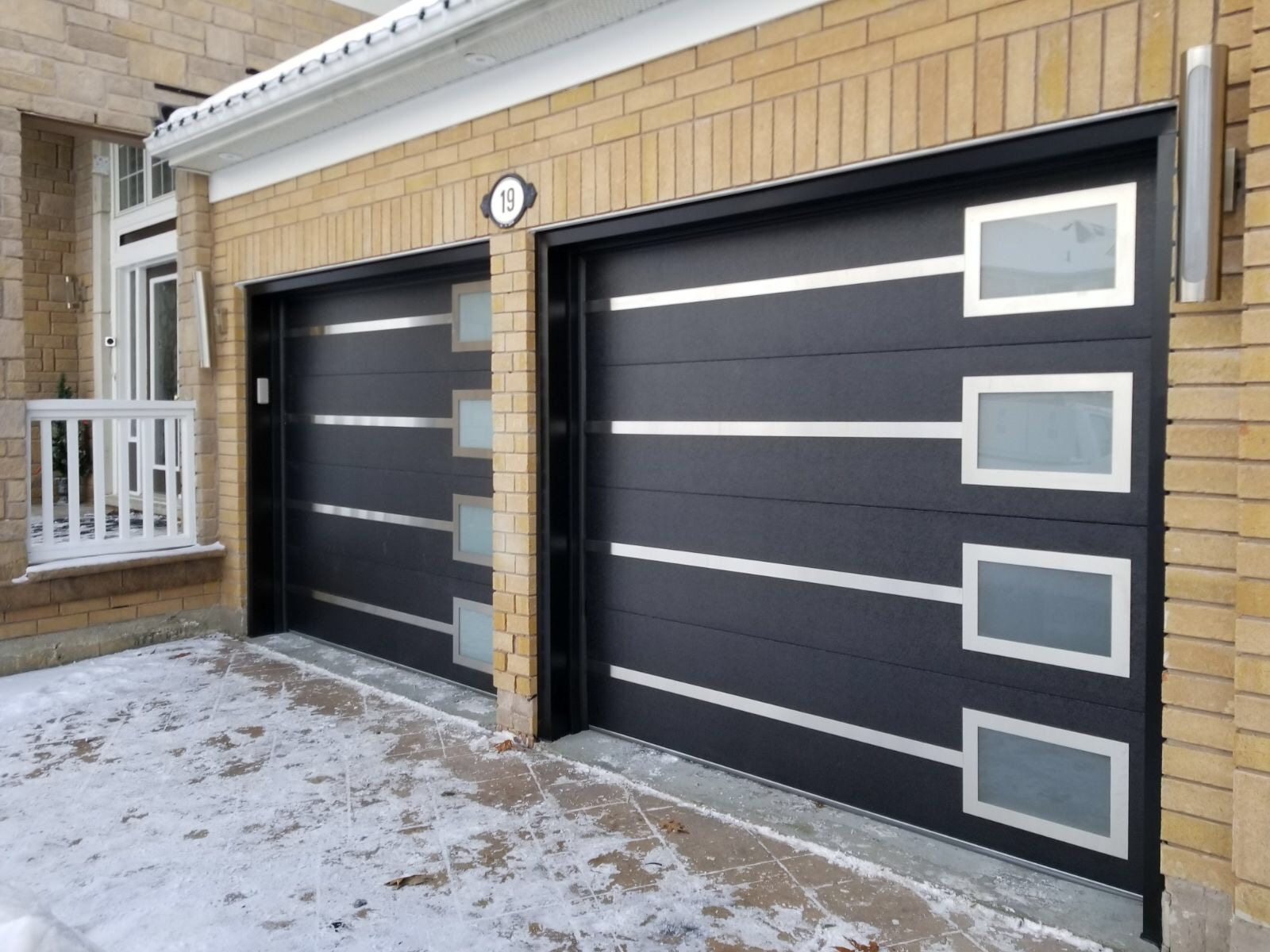 Modern Garage Doors Frosted Glass