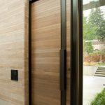 Modern Exterior Euro Style Door Wood Panel