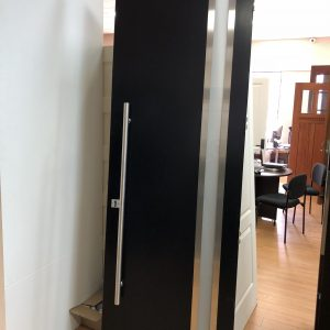 Modern Double Door Black Exterior Door