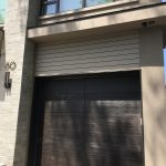 Modern Exterior Wood Grain Garage Door
