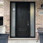 Modern Exterior Fibre Glass Entry Door Double Glass