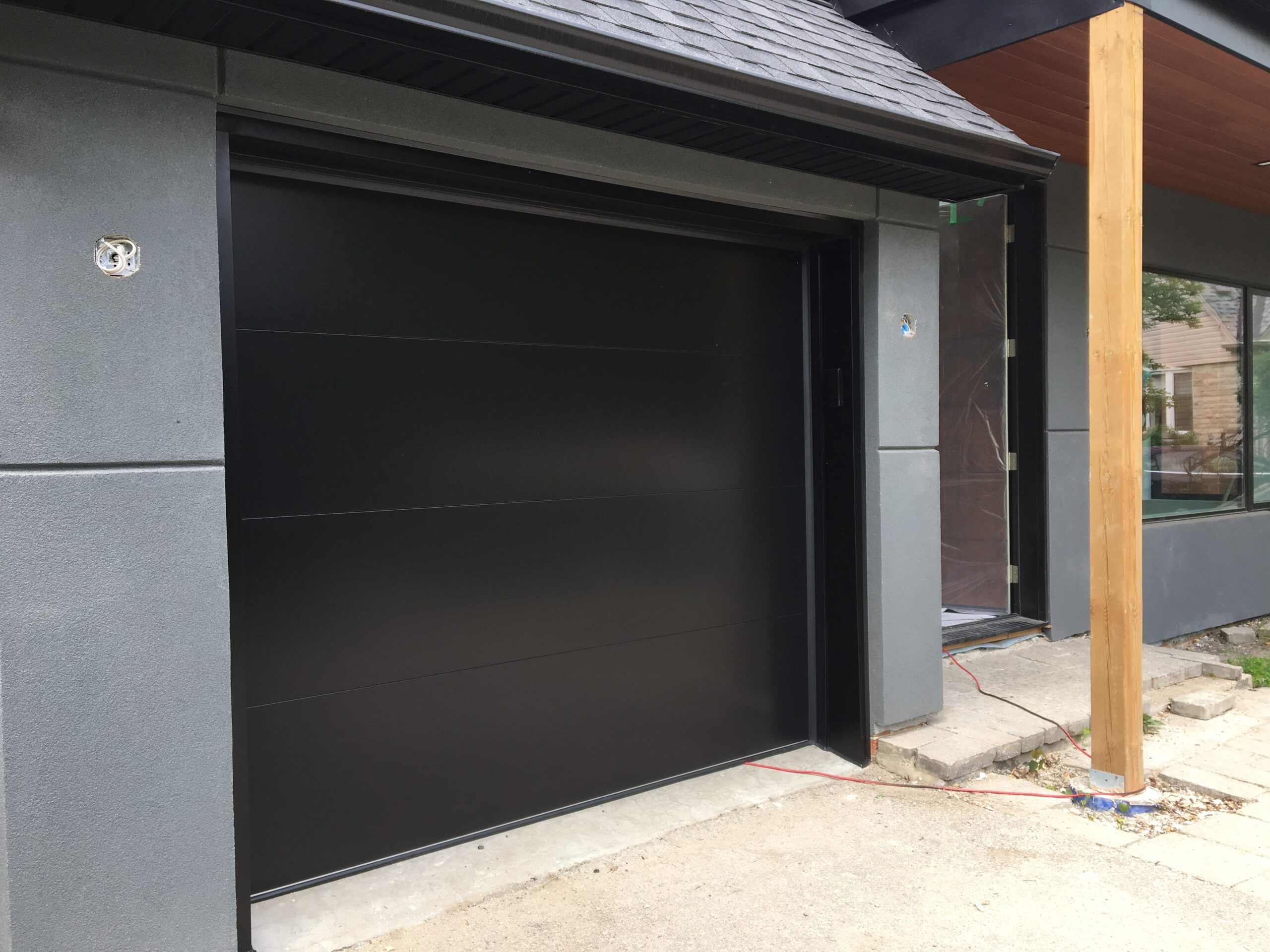 Modern Fibre Glass Panel Garage Door