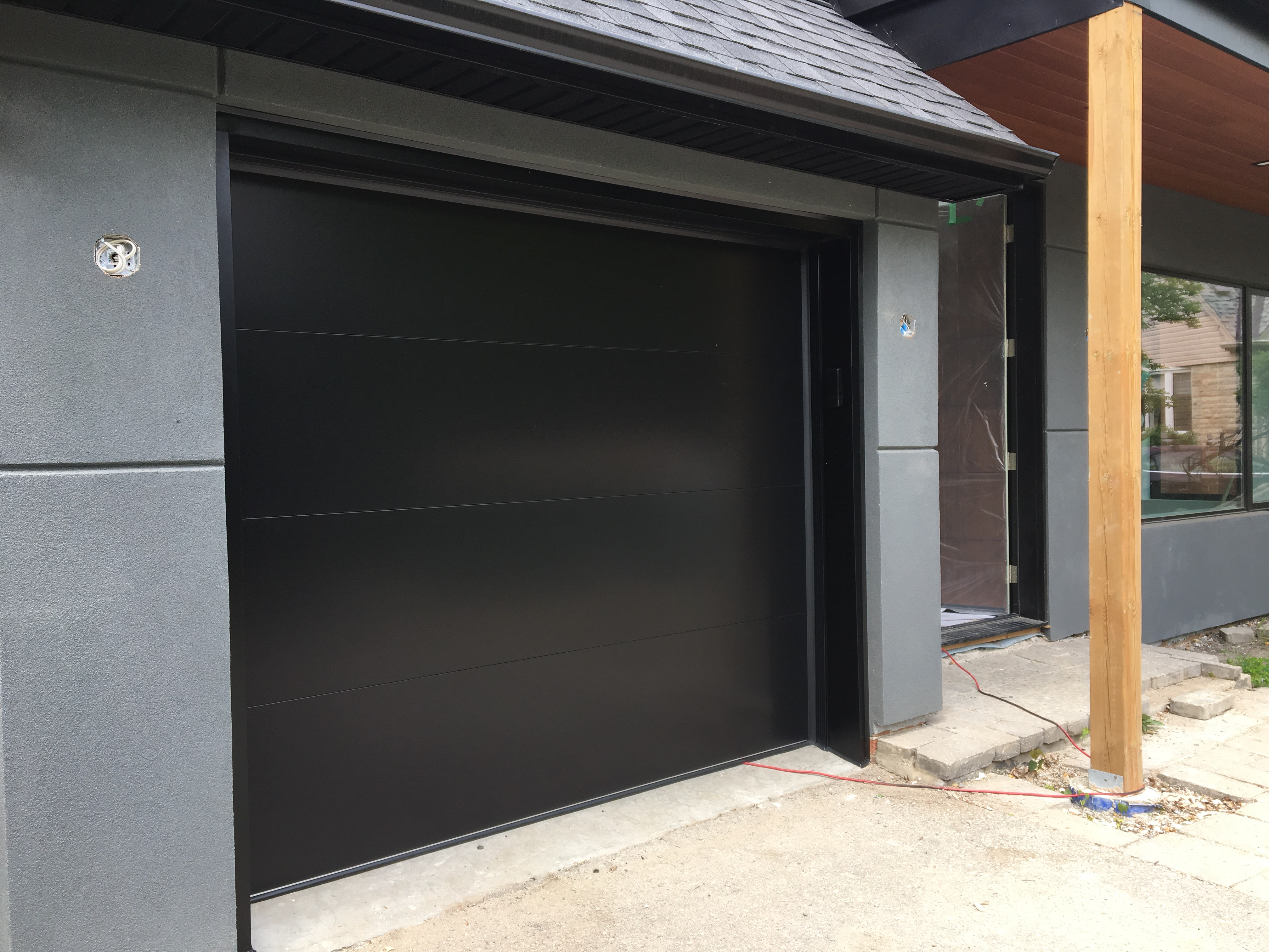 Modern Fibre Glass Panel Garage Door