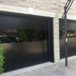 Modern Double Garage Doors Black Glass