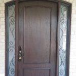 Exterior Fiberglass Entry Door Wrought Iron Side Lite