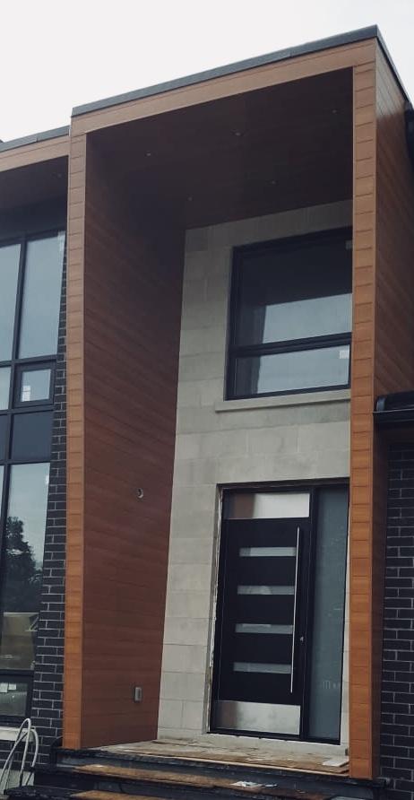 Modern Oversized front entry Door Vertical Glass