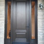 Single Front Entry Fiberglass Door Clear Glass