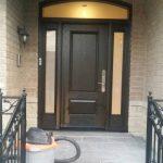 Modern Exterior Arched Fiberglass Entry Door