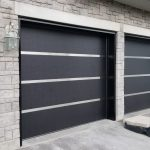 Modern Exterior Garage Door Stainless Steel Strips