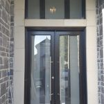 Modern Double Entry Door Frosted Glass