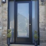 Frosted Glass Front Entry Door
