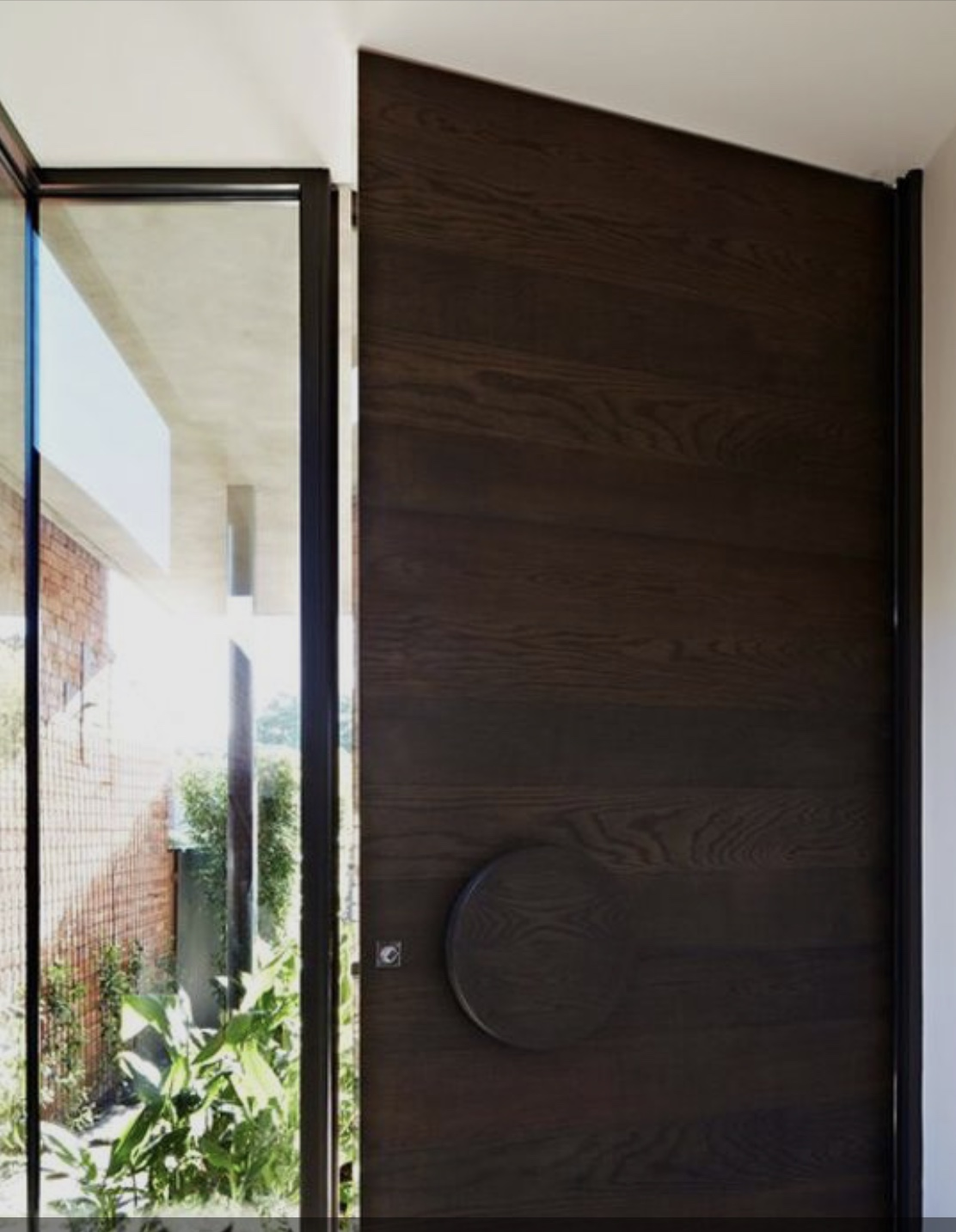 Modern Design Solid Wood Entrance Door