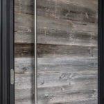 Modern Solid Ash Wood Panel Entrance Door