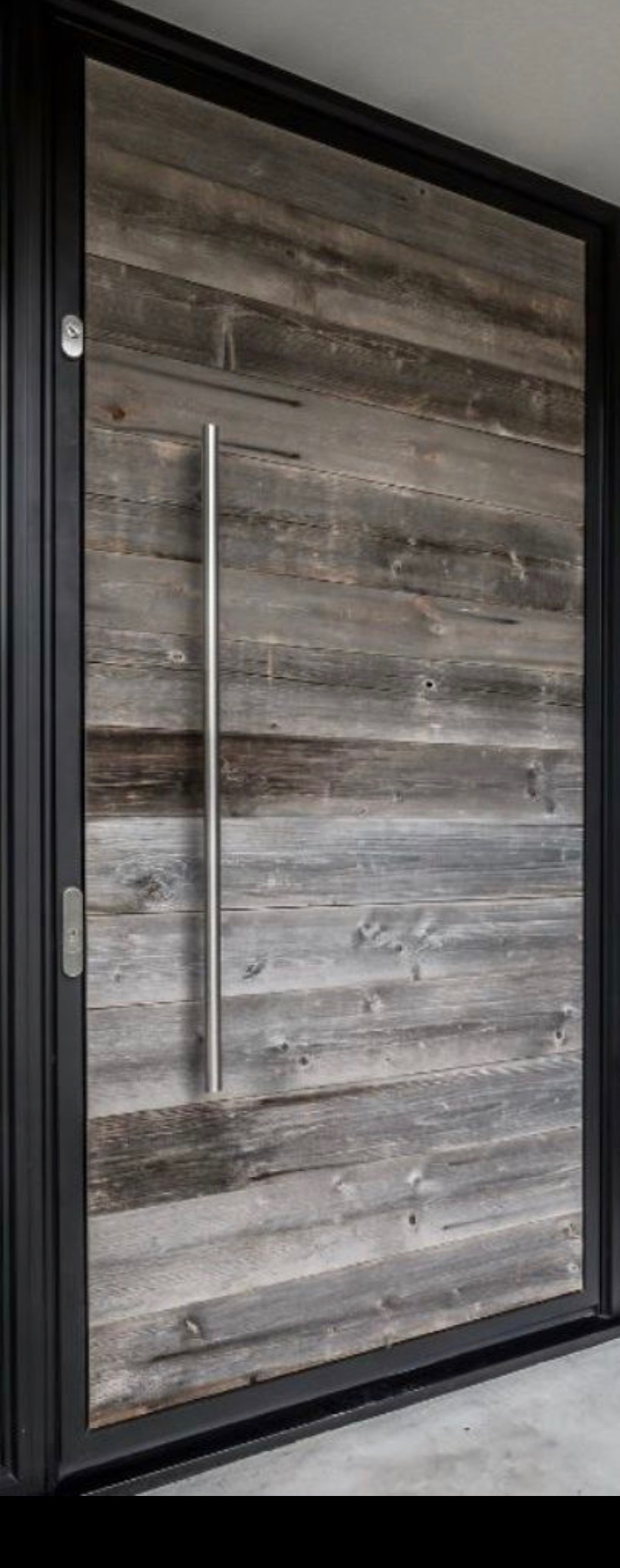 Modern Solid Ash Wood Panel Entrance Door