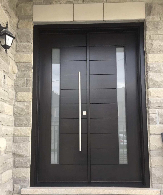 Modern Design Solid Mahogany Wood Double Door