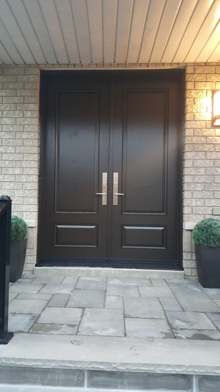 Traditional Fiberglass Double Front Entry Door