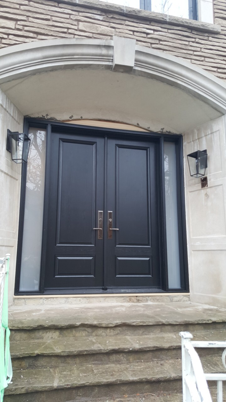 Modern Solid Wood Double Front Entry Doors
