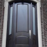 Arched Mahogany Entry Door Solid Wood