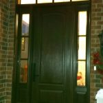 Mahogany Wood Entrance Door Side Lite And Transom