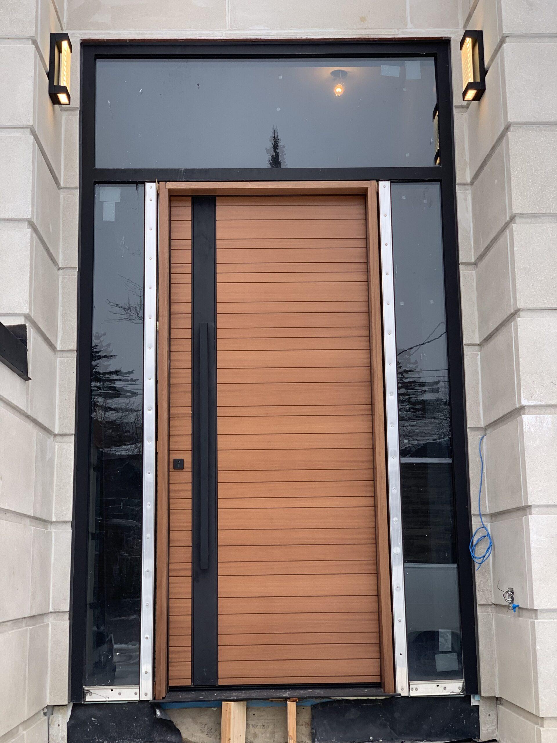 Solid Wood Urban Modern Front Entry Door