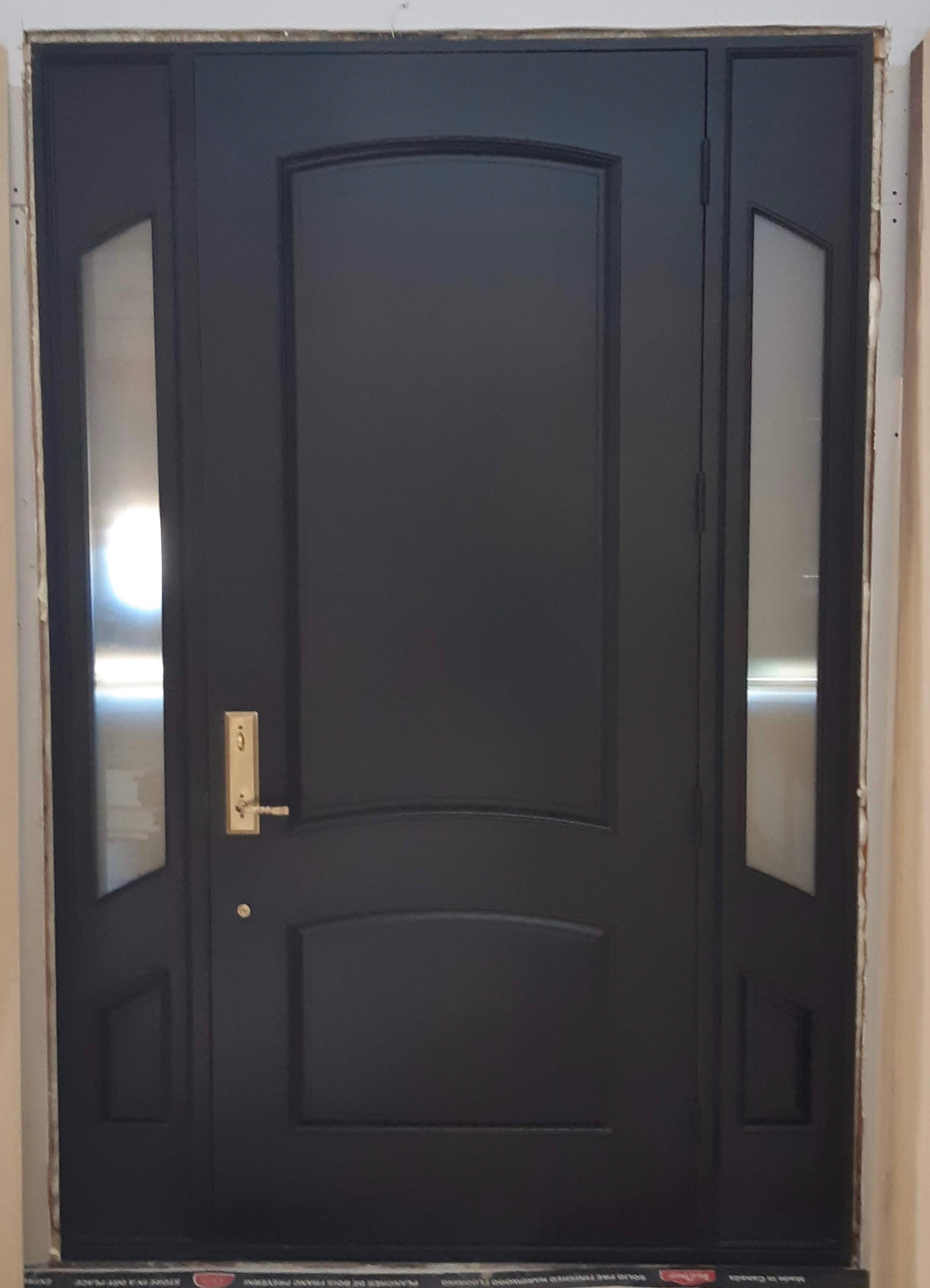 Traditional Fiberglass Door With Side Lights