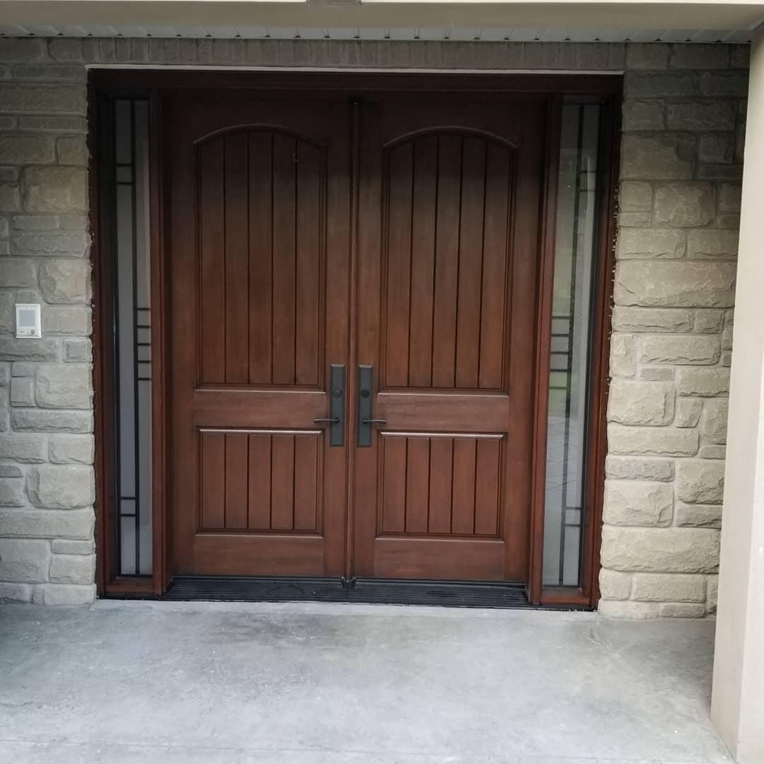 Traditional Crafted Grand Double Fiberglass Door